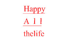 HAPPY ALL THELIFE